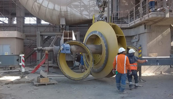 ID Fan being installed at Lafarge Cement