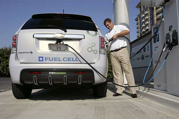 Car with Hydrogen fuel cells