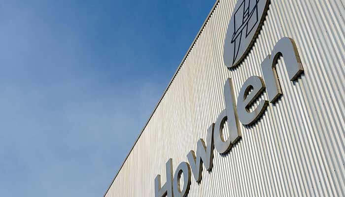 The Howden sign on our building