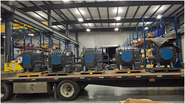 Blowers leaving our Houston factory