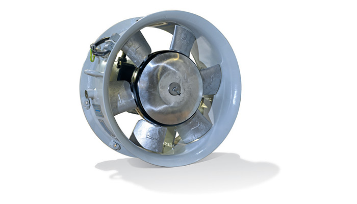 Axial fans for trains